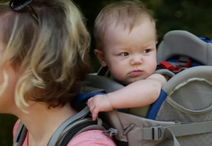 baby in child carrier
