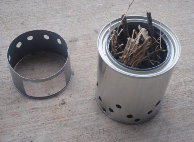 can stove with firewood