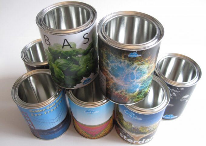 clean empty food cans