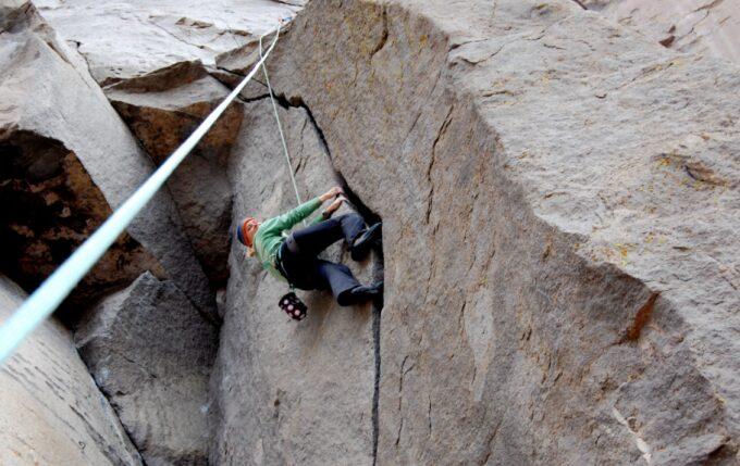 crack climbing layback