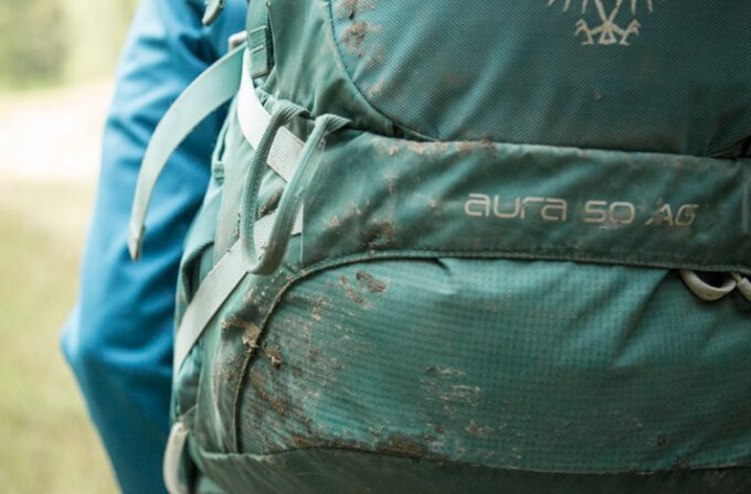 dirty backpack