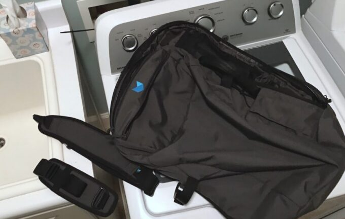 drying backpack with dryer