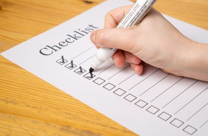 making a checklist
