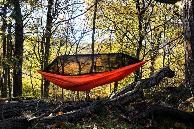 orange tree hanging tent