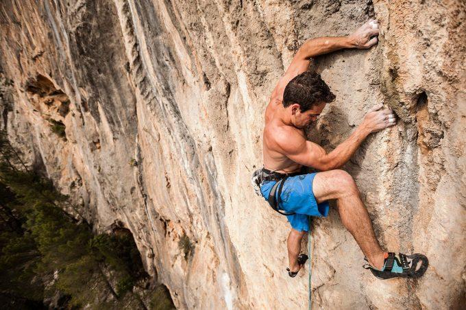 rock climbing side pull