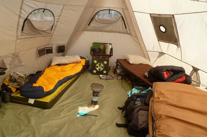 Tent Heating with Catalytic Heater